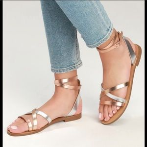 Steven by Steve Madden Rose Gold/Silver Sandals